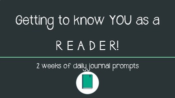 Getting to know Readers Journal Prompts