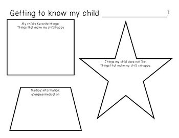 Getting to know my child