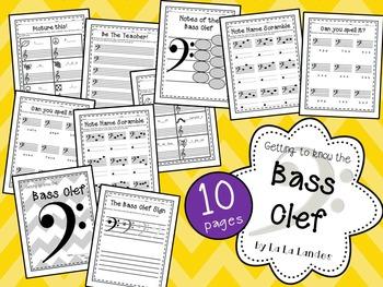 Bass Clef Worksheets Bundle