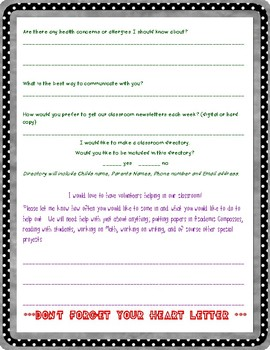 Getting to know the family questionnaire