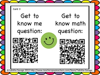Getting to know you- A back to school activity for  math class Gr. 2 QR Edition!
