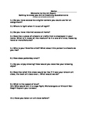 Getting to know you Art and Creativity Questionnaire