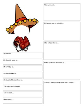 Introduction page - Getting to Know You FB page - Spanish 1
