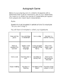 Getting to know you: People Bingo/Autograph Game