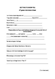Getting to know you form for parents