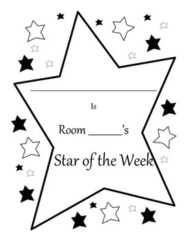 Getting to know your classmates- star of the week activity