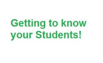 Getting to know your students