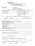 Getting to know your students INFO COLLECTION SHEET:FRENCH