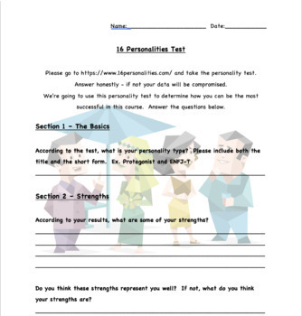 Getting to know your students - personality test!