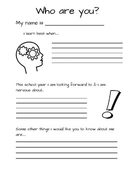 Get To Know Your Student Worksheet | Teachers Pay Teachers