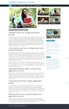 Getting to learn the college application process