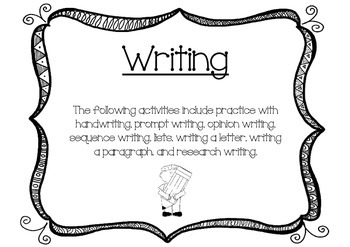 """""""Getting to the Core""""- First Grade Writing"""