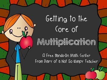 Getting to the Core of Multiplication- FREE Hands-On Math Center
