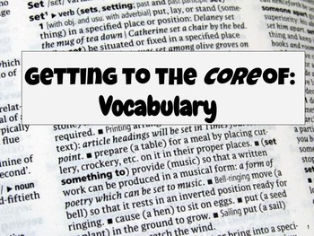 Vocabulary Skills Pack- Differentiated Levels for the Common Core ELA 4-12