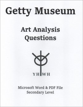 Getty Museum Art Analysis Questions