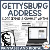 Gettysburg Address Close Read AND Summary Writing