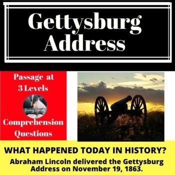 Gettysburg Address Differentiated Reading Passage November 19