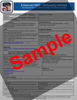Gettysburg Address - Enhanced DBQ - Primary Source Series - (PDF)