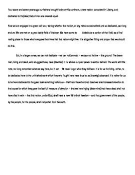 Gettysburg Address: Guided Highlighting