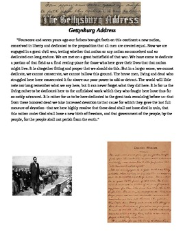 Gettysburg Address & Lincoln's 2nd Inaugural Address