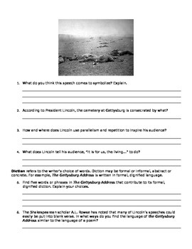 Gettysburg Address: Questions