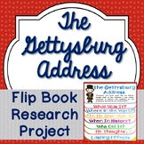 Gettysburg Address, Research Project, Flip Book, Writing Prompts, Vocabulary