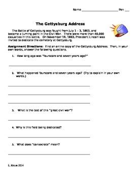 Gettysburg Address - Text Analysis