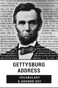 Gettysburg Address Vocabulary