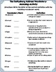 Gettysburg Address Vocabulary and Spelling-Grades 3 & 4 (Common Core)