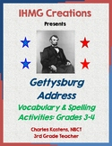 Gettysburg Address Vocabulary and Spelling-Grades 3 & 4 (C