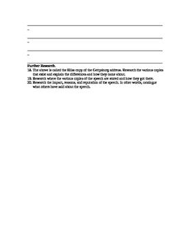 Gettysburg Address W/Side by Side Modern Text
