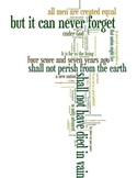 Gettysburg Address - Word Art Poster Prints