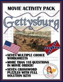 Gettysburg Movie Worksheets / Quizzes / Tests