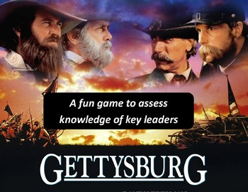 Gettysburg Quotagories Game:  Students race to match characters with quotes