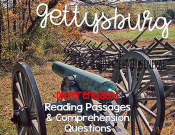 Gettysburg Reading Passages: Leveled Texts for SS Integration
