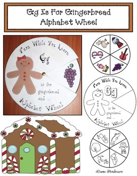 Gg is for Gingerbread Alphabet Wheel