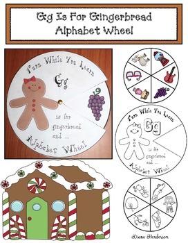 Alphabet Crafts: Alphabet Activities: Gg is for Gingerbread Alphabet Wheel