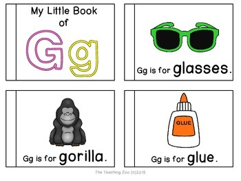 Letter of the Week Readers - G g is for Glasses