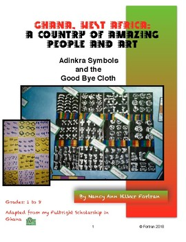 Ghana Adinkra Cloth Visual Arts Printmaking Lesson for Grades 1 to 8