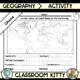 Ghana Fact File Worksheet