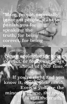 Ghandi - Poster with Quotes