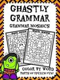 Ghastly Grammar Mosaics! Halloween Parts of Speech