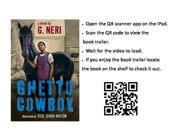 QR code link to book trailer for Ghetto Cowboy