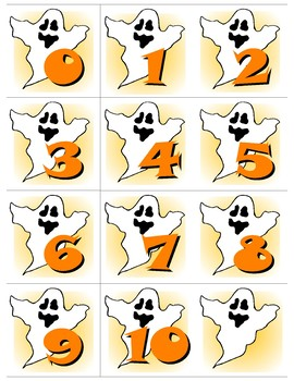 Ghost 0-10 Number Cards