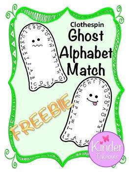 Ghost ABC Match FREEBIE!