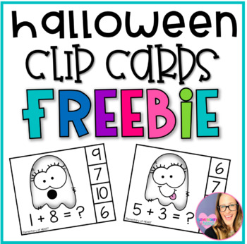 Ghost Addition Clip Cards- FREEBIE