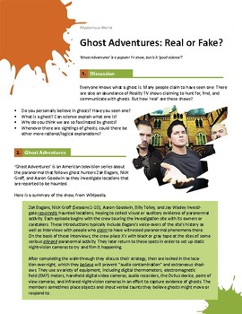 Ghost Adventures Real Or Fake By Graeme Westwood Tpt