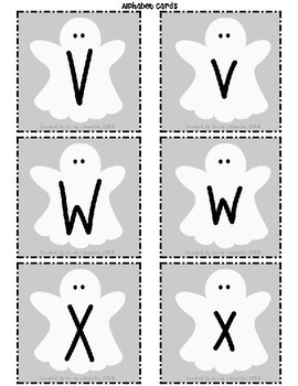Ghost Alphabet Cards