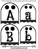 Ghost Alphabet Uppercase and Lowercase- Halloween Busy Box