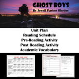 Ghost Boys Lesson Plans, Vocabulary, Pre-Reading & Post Re